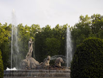 Neptune fountain in Madrid. Spain Stock Image
