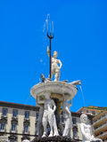 Neptune fountain in Naples. Royalty Free Stock Photography