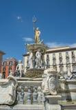 Neptune fountain in Naples- Italy Royalty Free Stock Photo