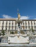 Neptune fountain in Naples- Italy Stock Photos