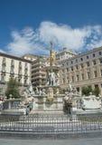 Neptune fountain in Naples- Italy Stock Photography