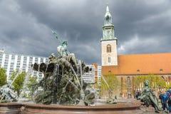 Neptune fountain Neptunbrunnen in Berlin, Germany Stock Photo
