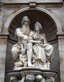 Neptune Fountain next to Albertina Museum royalty free stock image