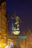 Neptune Fountain at night Royalty Free Stock Photos