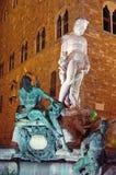 Neptune Fountain at Night Stock Photography