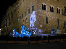 Neptune. Fountain of Neptune in Piazza della Signoria in Florence, Italy Stock Photography