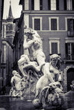Neptune fountain in Piazza Navona, Rome Royalty Free Stock Photography