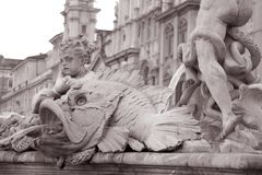 Neptune Fountain, Piazza Navona Square; Rome Royalty Free Stock Photography