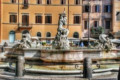 Neptune Fountain, Piazza Navova, Rome, Italy Stock Photo