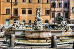 Neptune Fountain, Piazza Navova, Rome, Italy Stock Photo