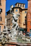Neptune Fountain, Piazza Navova, Rome, Italy Stock Photography