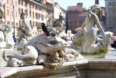 Neptune Fountain in Rome, Italy Royalty Free Stock Photography
