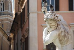 Neptune Fountain in Rome, Italy Stock Images