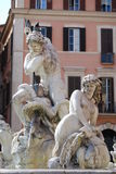 Neptune Fountain in Rome, Italy Stock Photos