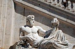 Neptune fountain in Rome royalty free stock photos