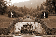 Neptune fountain. The Neptune fountain Linderhof Palace in southwestern Bavaria in Germany Stock Image