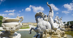 Neptune Fountain & Schloss Schonbrunn Palace Royalty Free Stock Photo