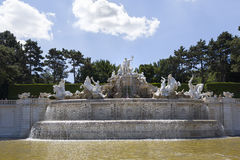 Neptune Fountain Schoenbrunn Royalty Free Stock Photos