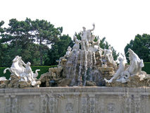 Neptune fountain in Schonbrunn Stock Photography