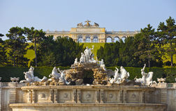 Neptune fountain in Schonbrunn Palac Royalty Free Stock Photos