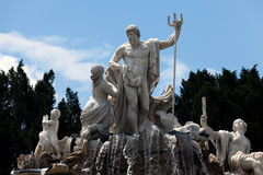 The Neptune Fountain at the Schonbrunn Palace Royalty Free Stock Photos