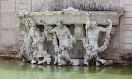 Neptune Fountain at the Schonbrunn Palace Stock Photos