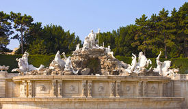 Neptune Fountain at the Schonbrunn Palace, Vienna Stock Photos