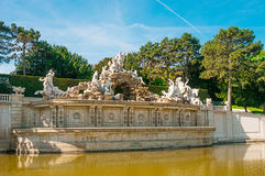 Neptune fountain in Schonbrunn Palace in Vienna Royalty Free Stock Photo