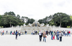 Neptune Fountain Schonbrunn Palace Stock Photography