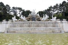 Neptune Fountain Schonbrunn Palace Stock Photos