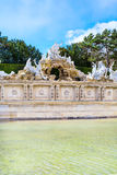 The Neptune Fountain at Schonbrunn Palace, Vienna, Austria Stock Photography