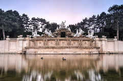 Neptune Fountain of Schonbrunn Palace - Vienna, Austria Royalty Free Stock Images