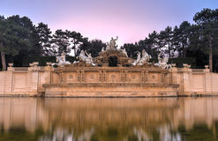 Neptune Fountain of Schonbrunn Palace - Vienna, Austria Stock Images