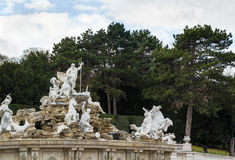 Neptune fountain in schonbrunn, Vienna Royalty Free Stock Photo