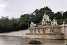 Neptune fountain in Schonbrunn, Vienna Royalty Free Stock Images