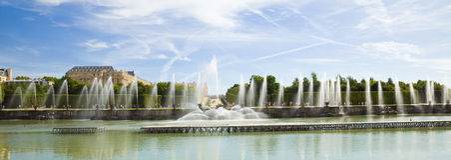 The Neptune fountain of Versailles Stock Photo