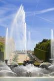The Neptune fountain of Versailles Stock Photos