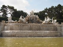 Neptune fountain in Vienna Stock Image