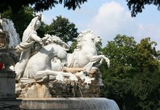Neptune fountain in Vienna Royalty Free Stock Image