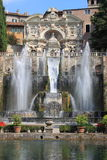 Neptune Fountain in Villa d'Este stock photography