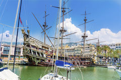 The Neptune Galleon pirate ship  in Genova , Italy Royalty Free Stock Image