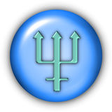 Neptune Glyphs. Planet Glyphs Button - Neptune (Include Clipping Path Royalty Free Stock Photos