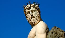Neptune - greek god statue Royalty Free Stock Photo