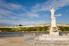 Neptune, Havana. Neptune statue at the harbour of Havana on the Malecon, Cuba Royalty Free Stock Photo