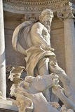 Neptune, main statue of Trevi Fountain in Rome, by Nicola Salvi architect. Neptune statue, central figure of Trevi Fountain in Rome, by Nicola Salvi architect Royalty Free Stock Photos