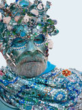 Neptune mask - Venice Carnival 2011 Royalty Free Stock Photo