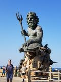 Neptune. Bronze statue Stock Photo