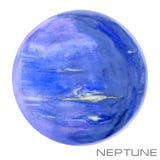 Neptune. Neptune watercolor background. Stock Photography