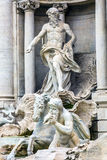 Neptune Nymphs Statues Trevi Fountain Rome Italy Stock Image