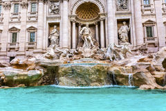 Neptune Nymphs Statues Trevi Fountain Rome Italy Royalty Free Stock Images